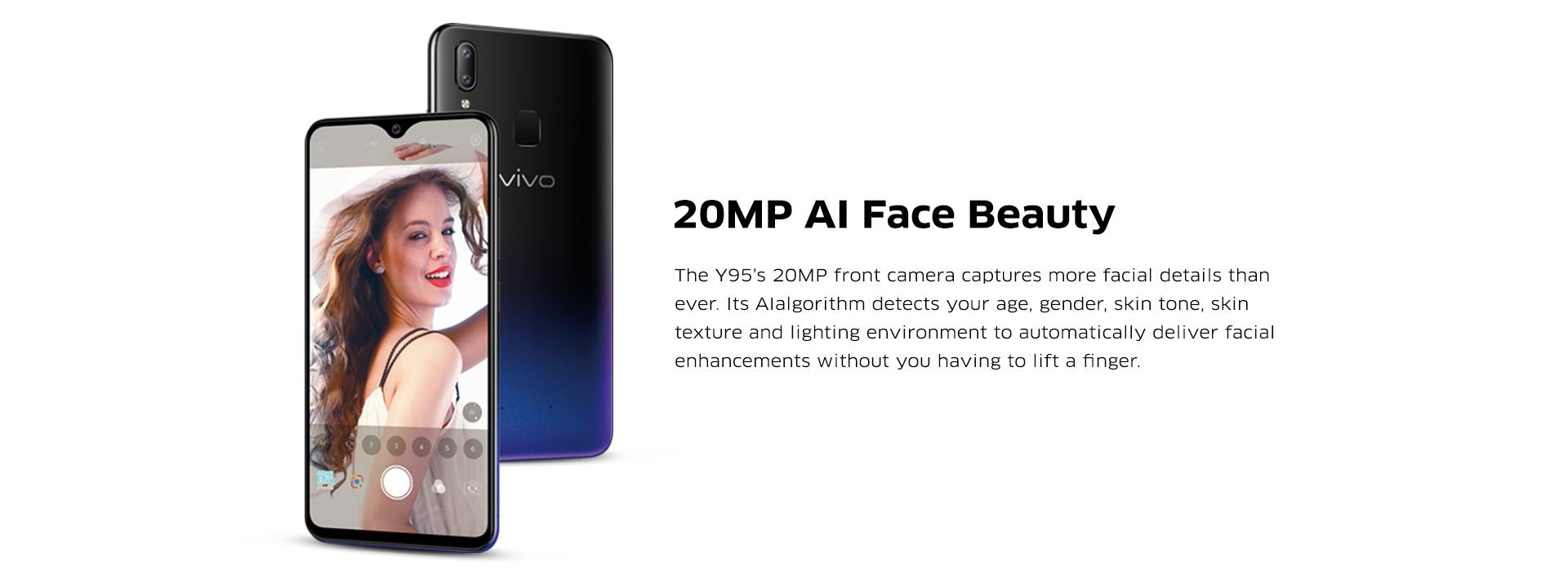 Vivo Best Selfie 20MP AI Camera Smartphone 2018 – AI Face Beauty
