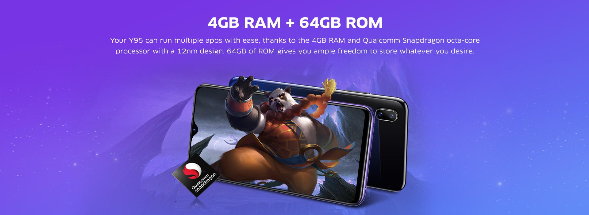 Buy Vivo Y95 4GB RAM Smartphone