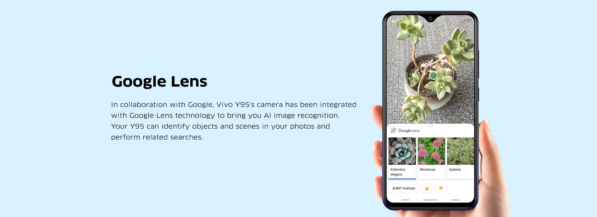 Vivo Y95 Features – Google Lens