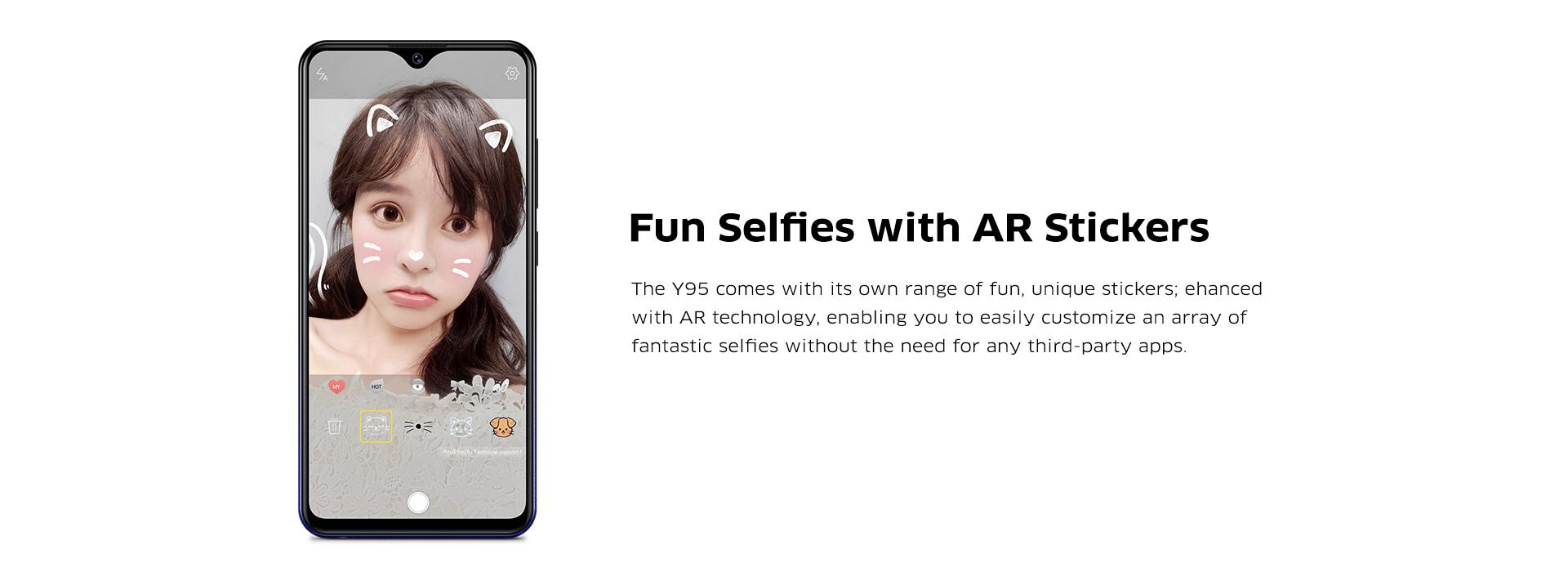 Vivo Y95 - Fun Selfies with AR Stickers